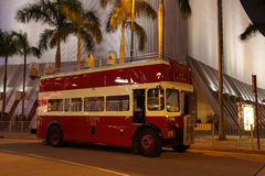 Vintage Double-Decker bus. In Hong Kong. Photo taken at 25th of November 2010 Stock Photo
