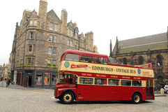 A vintage double decker tour bus Stock Photography