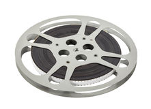 Vintage Double Sprocket 16mm Film Reel Royalty Free Stock Image