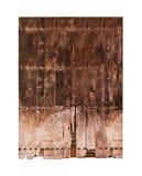 Vintage double wooden door Stock Images