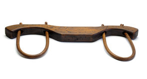 Vintage Draft Animal wood Harness Yoke Stock Images