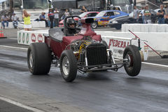 Drag racing. Napierville dragway july 12, 2014 picture of vintage drag car on the track during nhra national open event Stock Photos