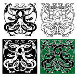 Vintage dragons celtic decorative ornament Royalty Free Stock Images