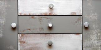 Vintage drawer. Painted vintage drawer. with door-handel Stock Photo