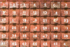 Vintage drawers wooden for abstract background Royalty Free Stock Photos