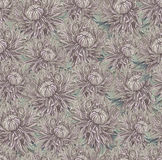 Vintage drawing of flowers Royalty Free Stock Images
