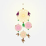 Vintage dream catcher on bright background Royalty Free Stock Images