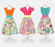 Vintage dress background stock illustration