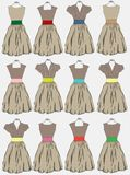 Vintage dress background Stock Image