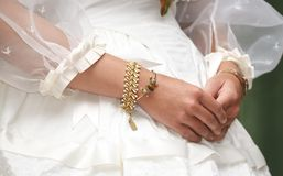 Vintage Dress and Jewelry Royalty Free Stock Photos