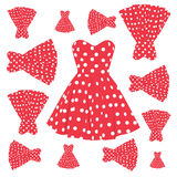 Vintage dress pattern Royalty Free Stock Photos