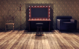Vintage dressing room. 3d render royalty free illustration