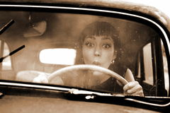 Vintage drive Royalty Free Stock Photo