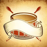 Vintage Drum Emblem Royalty Free Stock Photography