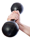 Vintage dumbbell Royalty Free Stock Photos