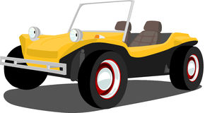 Vintage Dune Buggy. A Vector .eps illustration of an old dune buggy. Saved in layers for easy editing. See my portfolio for more automotive images royalty free illustration