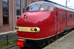 Vintage Dutch electric train Materieel '54 (Mat '54) - Hondekop Stock Photo