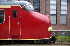 Vintage Dutch electric train Materieel '54 (Mat '54) - side view Stock Photos