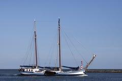 Vintage dutch sailboat. Stock Image