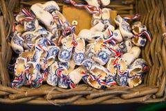 Vintage Dutch wooden clogs Stock Photos
