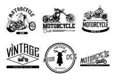 Vintage e logotipo do clube da motocicleta Fotografia de Stock