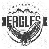 Vintage Eagle Label Template majestuoso stock de ilustración