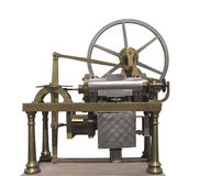 Vintage early gas engine isolated. Stock Photography