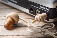 Vintage earphone Royalty Free Stock Images