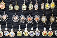 Vintage earrings Stock Photos