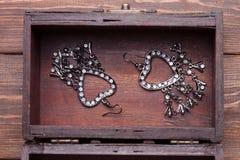 Vintage earrings Stock Image