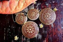 Vintage earrings Royalty Free Stock Image