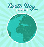 Vintage Earth day poster with grunge texture and Royalty Free Stock Photo