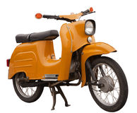 Vintage East German Motorbike. An Old east German motorbike Isolated on white background Stock Image