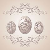 Vintage Easter background with eggs Royalty Free Stock Images