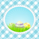 Vintage easter background oval Stock Image