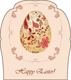 Vintage Easter card Royalty Free Stock Images