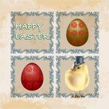 Vintage Easter Card stock image