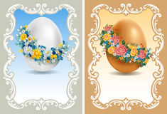 Vintage Easter cards vector illustration