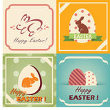 Vintage easter cards set Stock Photo