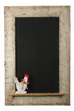 Vintage Easter Chicken Roosters Chalkboard Reclaimed Wood Frame Stock Image