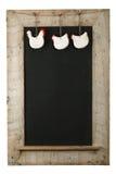 Vintage Easter Chicken Roosters Chalkboard Reclaimed Wood Frame Stock Images