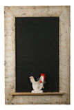 Vintage Easter Chicken Roosters Chalkboard Reclaimed Wood Frame Royalty Free Stock Photo