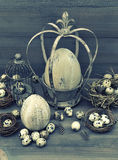 Vintage easter decoration. retro style toned Royalty Free Stock Images