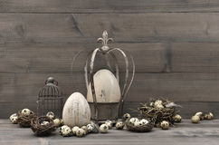 Vintage easter decoration. shabby chic still life Royalty Free Stock Photography