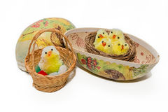 Vintage easter decorations stock images