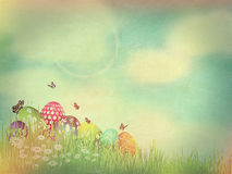 Vintage Easter Egg background with retro effect Royalty Free Stock Photo