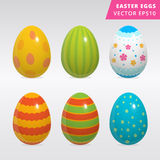 Vintage easter egg design set. Set of colorful painted Easter eggs vector illustration on grey background different style painted traditional easter eggs image Royalty Free Stock Images