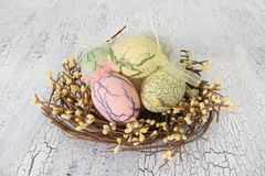 Vintage easter eggs Stock Photos