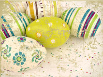 Vintage easter eggs Royalty Free Stock Images