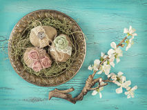 Vintage easter eggs Royalty Free Stock Photos